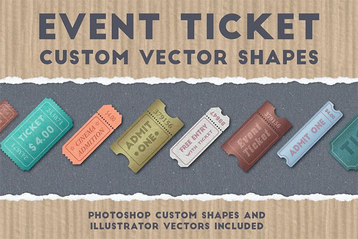 Event Ticket Shapes