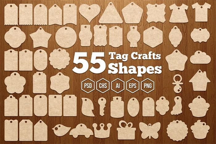 Tag Crafts Shapes